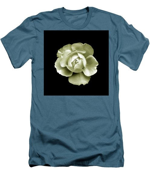 Men's T-Shirt (Slim Fit) featuring the photograph Peony by Charles Harden