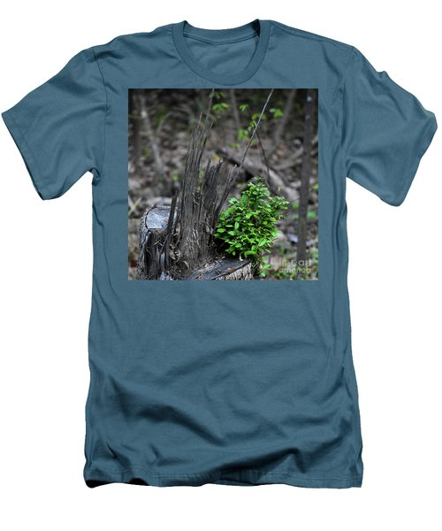 Men's T-Shirt (Slim Fit) featuring the photograph Persistence by Skip Willits