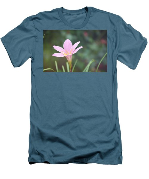 Pink Flower Men's T-Shirt (Slim Fit) by Gordana Stanisic
