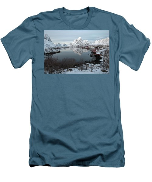 Men's T-Shirt (Athletic Fit) featuring the photograph Reine, Lofoten 4 by Dubi Roman