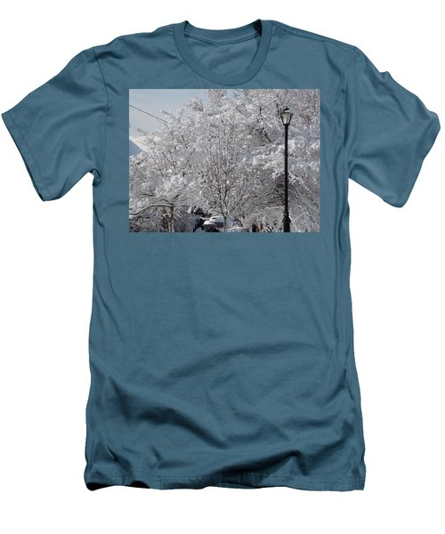 Snow Covered Trees Men's T-Shirt (Slim Fit) by Catherine Gagne