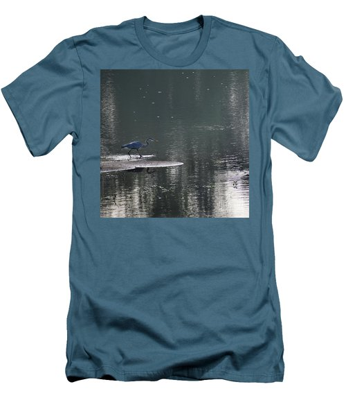 Men's T-Shirt (Slim Fit) featuring the photograph Stalker  by Skip Willits