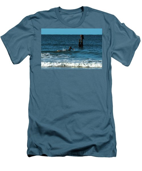 Surfing At  Men's T-Shirt (Athletic Fit)