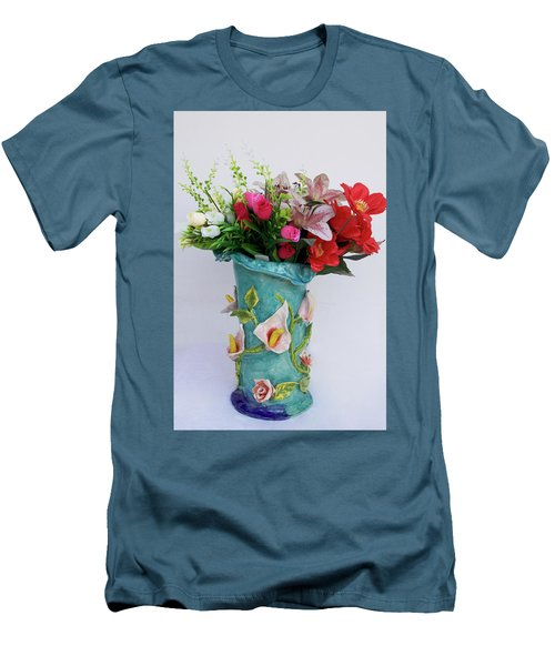 Vase, Rose Calla Men's T-Shirt (Athletic Fit)