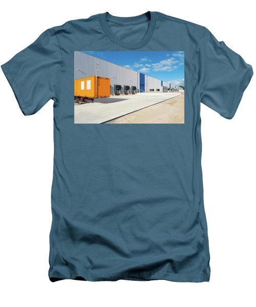 Men's T-Shirt (Slim Fit) featuring the photograph Warehouse Exterior by Hans Engbers