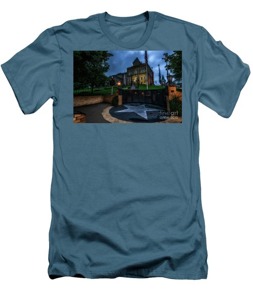 Men's T-Shirt (Slim Fit) featuring the photograph Webster County Courthouse by Thomas R Fletcher