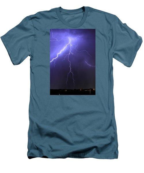 West Jordan Lightning 4 Men's T-Shirt (Slim Fit) by Paul Marto