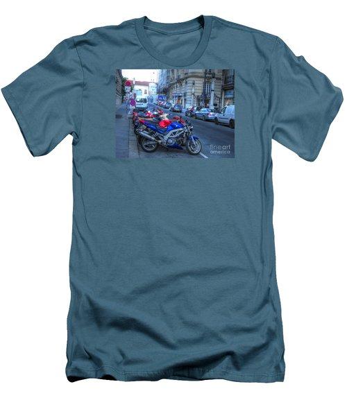 Men's T-Shirt (Slim Fit) featuring the pyrography Yury Bashkin Street by Yury Bashkin
