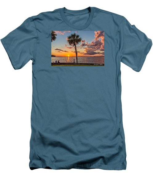 Men's T-Shirt (Slim Fit) featuring the photograph Sunset Over Lake Eustis by Christopher Holmes