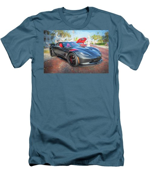 2017 Chevrolet Corvette Gran Sport  Men's T-Shirt (Slim Fit) by Rich Franco