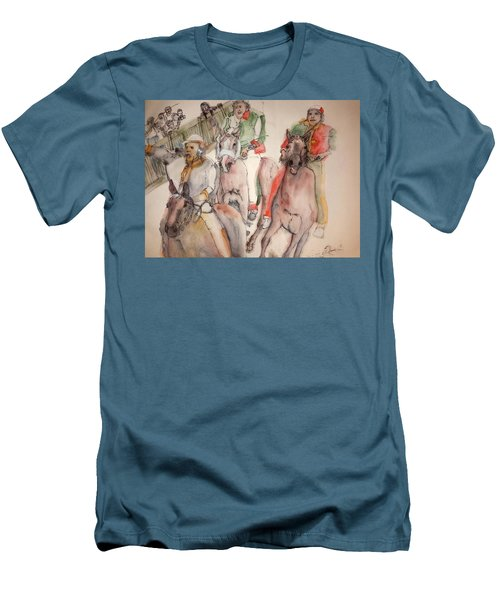 Il Palio Contrada  Lupa Album Men's T-Shirt (Slim Fit) by Debbi Saccomanno Chan