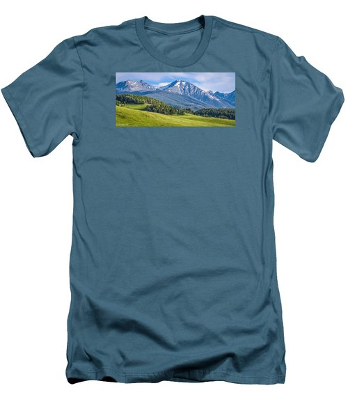 #215 - Spanish Peaks, Southwest Montana Men's T-Shirt (Athletic Fit)