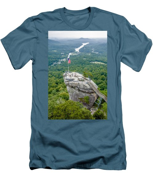 Lake Lure And Chimney Rock Landscapes Men's T-Shirt (Athletic Fit)