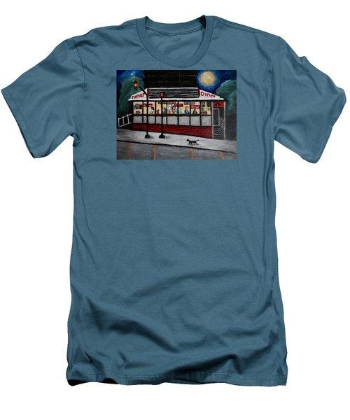 24 Hour Diner Men's T-Shirt (Athletic Fit)