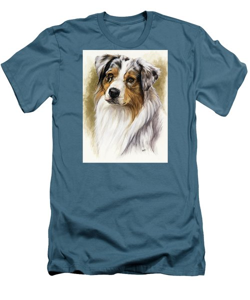 Australian Shepherd Men's T-Shirt (Slim Fit) by Barbara Keith