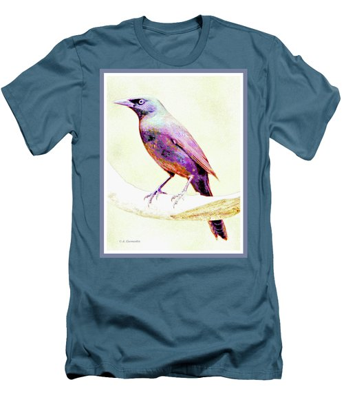 Great-tailed Grackle Men's T-Shirt (Slim Fit) by A Gurmankin