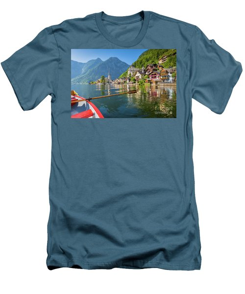 Hallstatt Men's T-Shirt (Slim Fit) by JR Photography