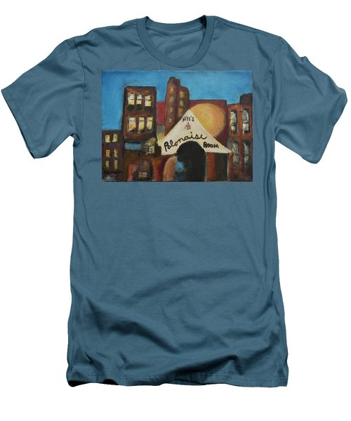 Men's T-Shirt (Slim Fit) featuring the painting Nye's Polonaise Room by Susan Stone