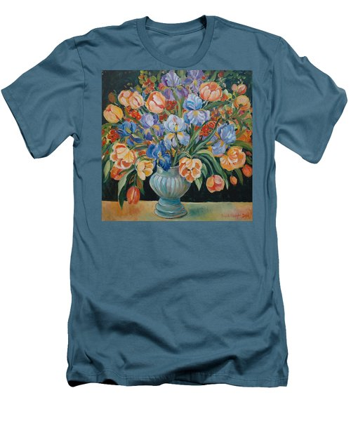 Tulips Men's T-Shirt (Slim Fit) by Alexandra Maria Ethlyn Cheshire