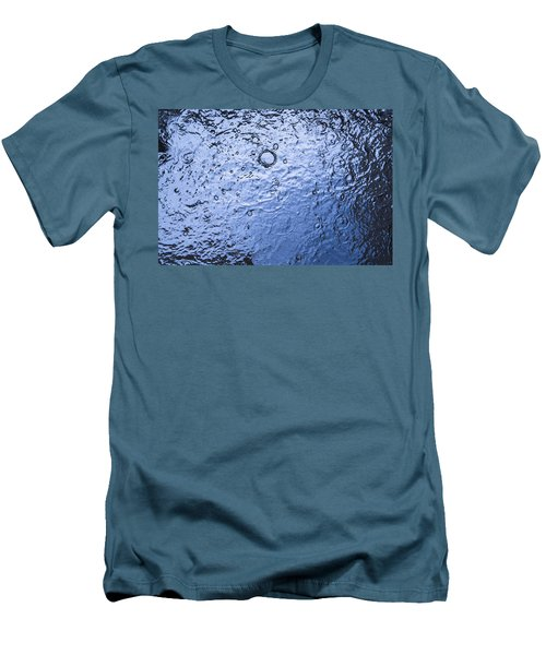 Water Abstraction - Blue Men's T-Shirt (Slim Fit)