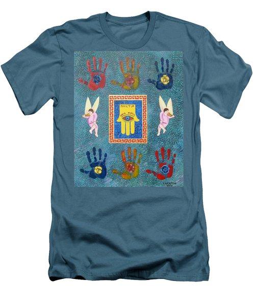 A Lesson In Symmetry Men's T-Shirt (Slim Fit) by John Keaton