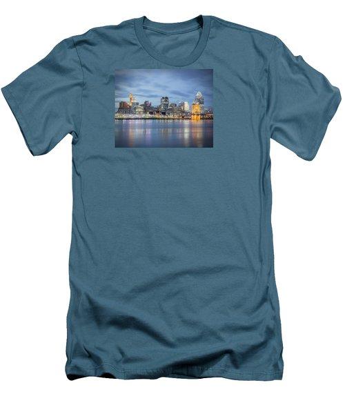 Cincinnati, Ohio Men's T-Shirt (Slim Fit) by Scott Meyer