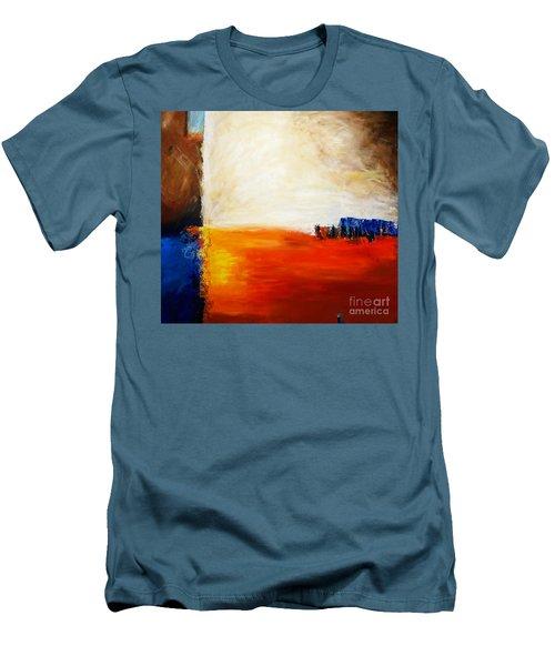 4 Corners Landscape Men's T-Shirt (Slim Fit) by Gallery Messina