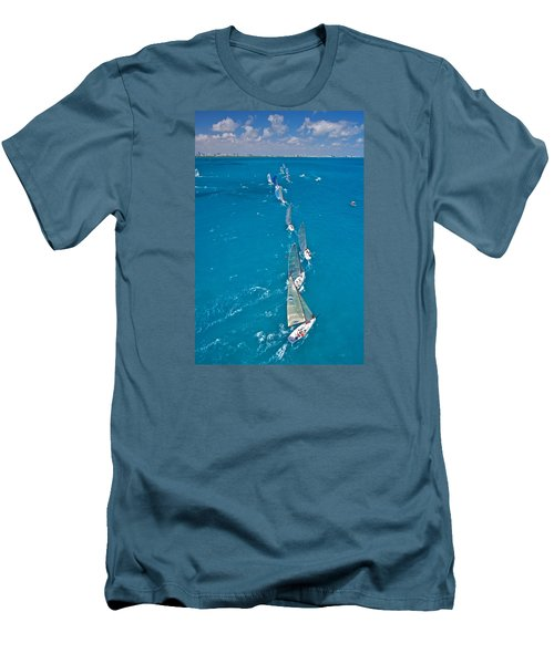 From On High Men's T-Shirt (Slim Fit) by Steven Lapkin