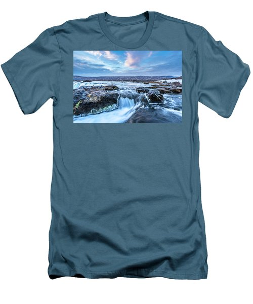 Godafoss Waterfall In Iceland Men's T-Shirt (Athletic Fit)