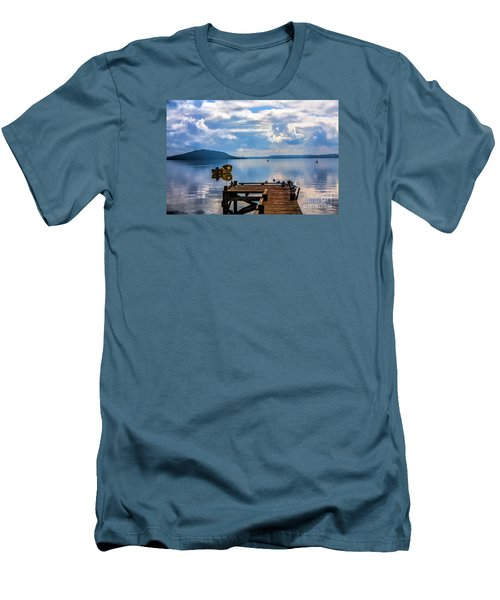 Quiet Lake Men's T-Shirt (Athletic Fit)