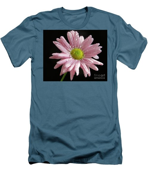 Pink Flower Men's T-Shirt (Slim Fit) by Elvira Ladocki