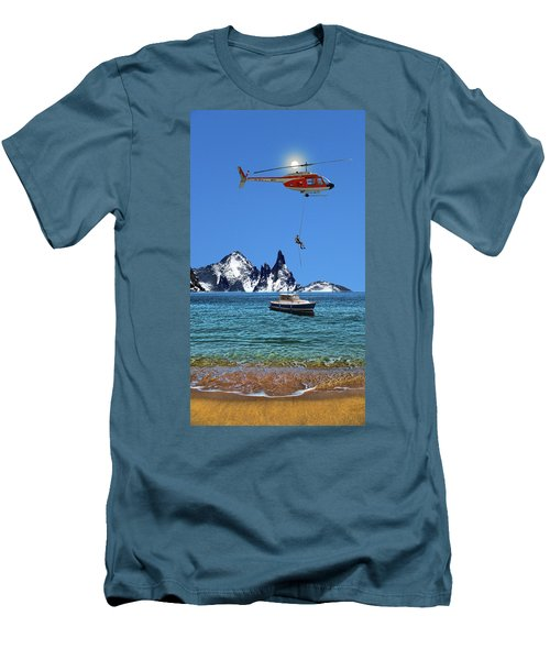 Men's T-Shirt (Slim Fit) featuring the photograph 4372 by Peter Holme III