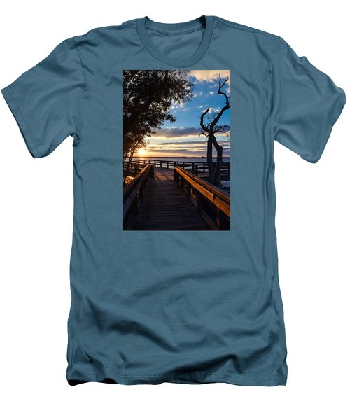 Sunset On The Cape Fear River Men's T-Shirt (Athletic Fit)