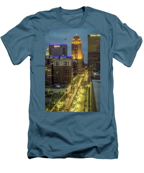 5th Street Cincinnati Men's T-Shirt (Slim Fit) by Scott Meyer