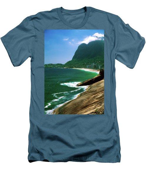 Rio De Janeiro Brazil Men's T-Shirt (Slim Fit) by Utah Images