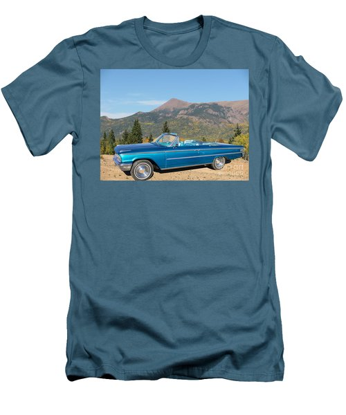 63 Ford Convertible Men's T-Shirt (Slim Fit) by Steven Parker