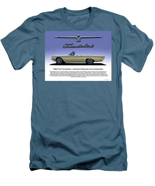 66 T-bird Display Piece Men's T-Shirt (Slim Fit) by Douglas Pittman