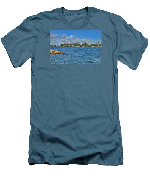 7- Jupiter Lighthouse Men's T-Shirt (Slim Fit) by Joseph Keane