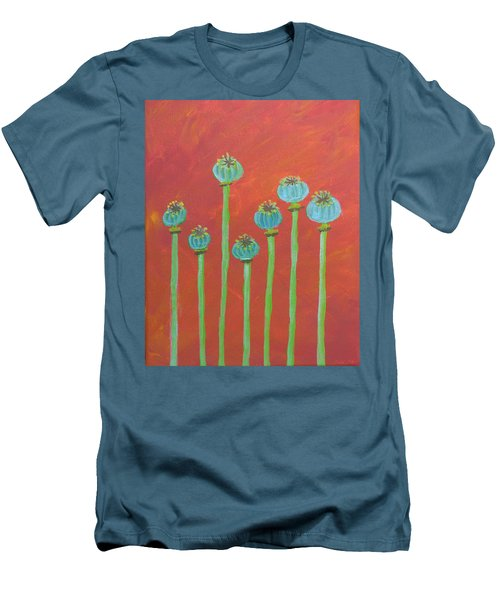7 Poppy Seed Pods Men's T-Shirt (Athletic Fit)