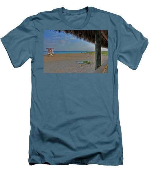Men's T-Shirt (Slim Fit) featuring the photograph 7- Southern Beach by Joseph Keane