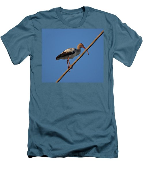 Men's T-Shirt (Slim Fit) featuring the photograph 8- Brown Ibis by Joseph Keane