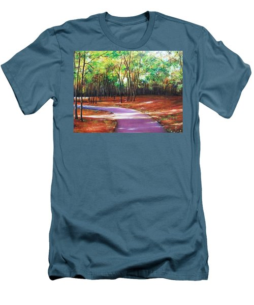 Men's T-Shirt (Slim Fit) featuring the painting Home by Emery Franklin