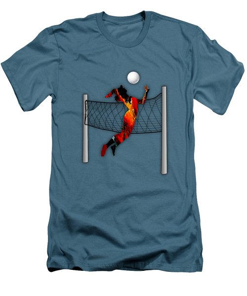 Vollyball Collection Men's T-Shirt (Slim Fit) by Marvin Blaine