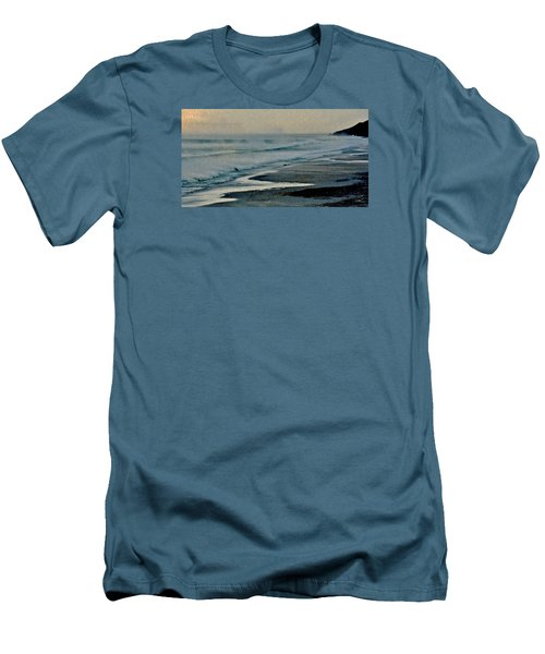 Stormy Morning At The Sea Men's T-Shirt (Slim Fit) by Werner Lehmann