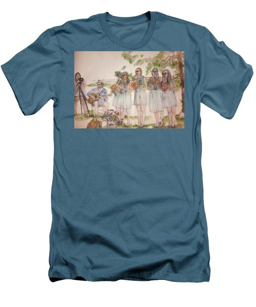 Men's T-Shirt (Slim Fit) featuring the painting The Wedding Album  by Debbi Saccomanno Chan