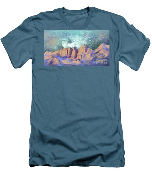 Men's T-Shirt (Slim Fit) featuring the painting A Breath Of Tranquility by S G