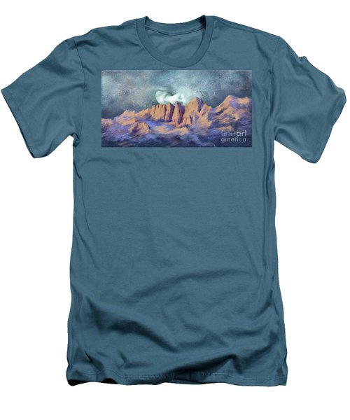 Men's T-Shirt (Slim Fit) featuring the painting A Breath Of Tranquility by Sgn