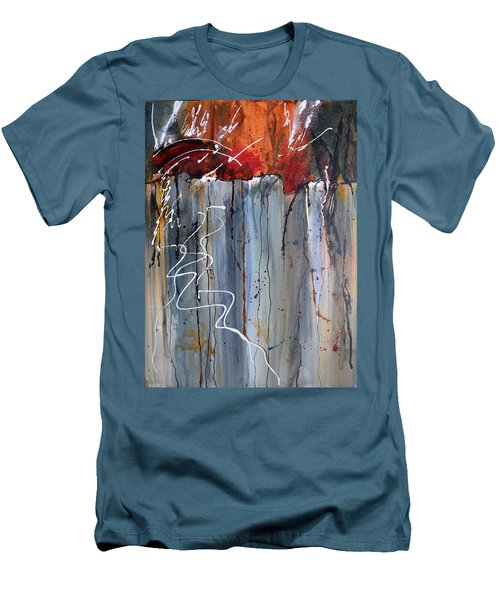A Burning Issue Men's T-Shirt (Slim Fit) by Nancy Jolley