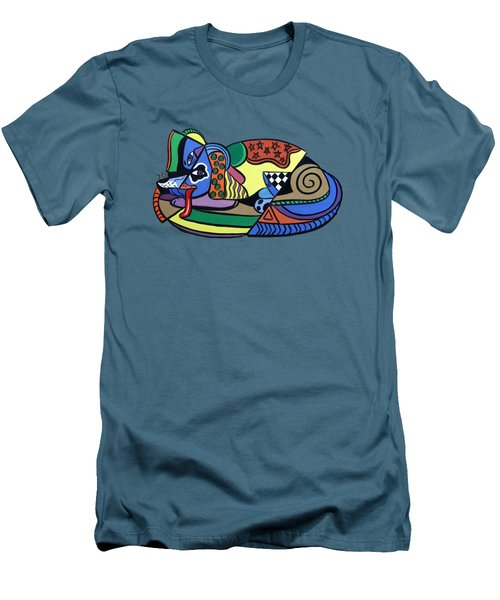 A Dog Named Picasso T-shirt Men's T-Shirt (Athletic Fit)