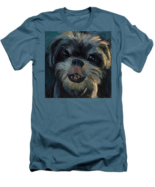 Men's T-Shirt (Slim Fit) featuring the painting A Face Only A Mother Could Love by Billie Colson